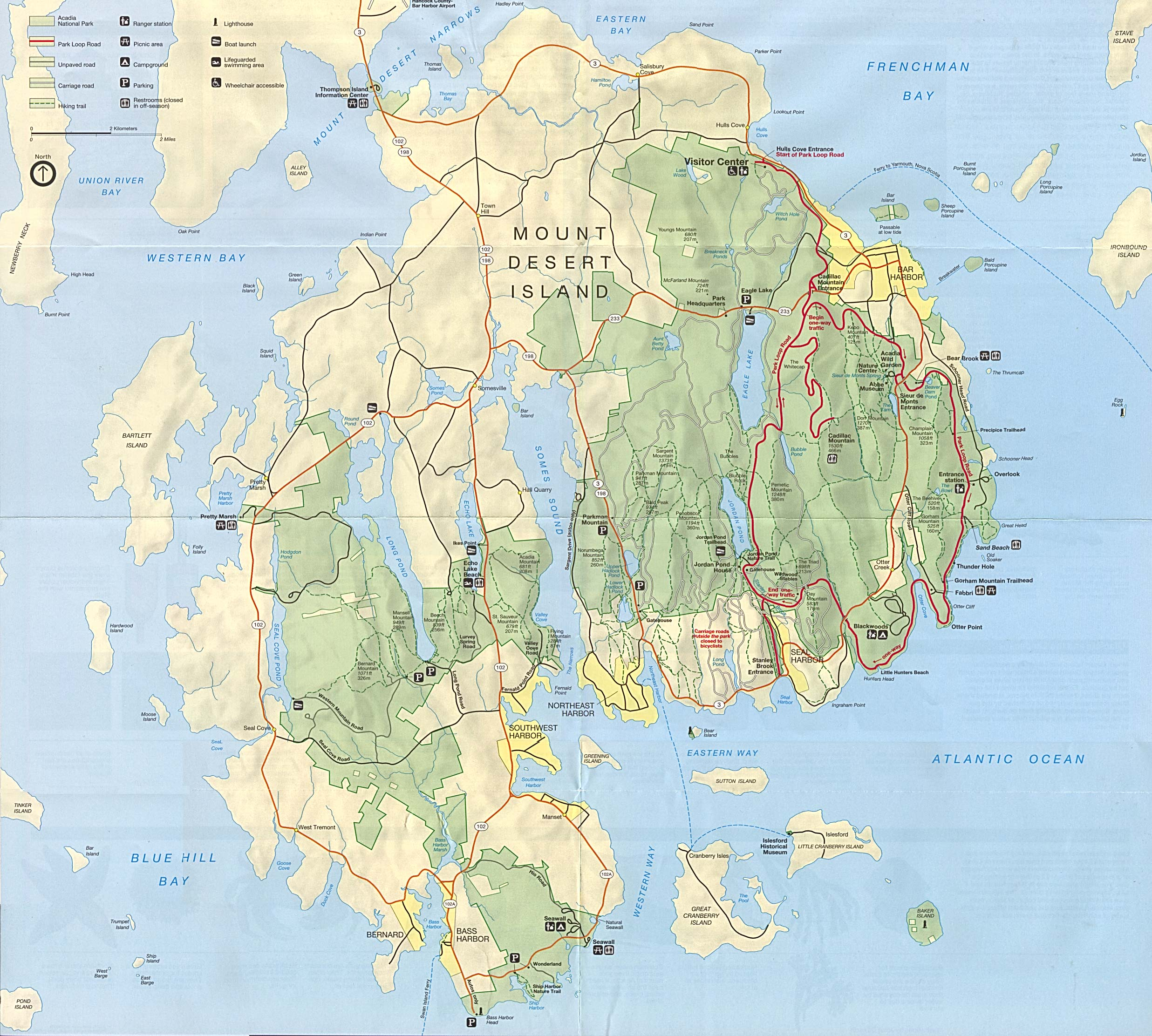Free Download Maine National Park Maps