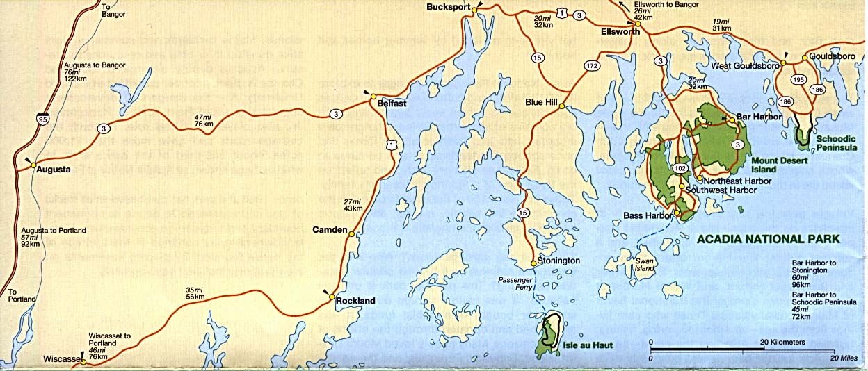 Free Download Maine National Park Maps - Us map of national parks and monuments
