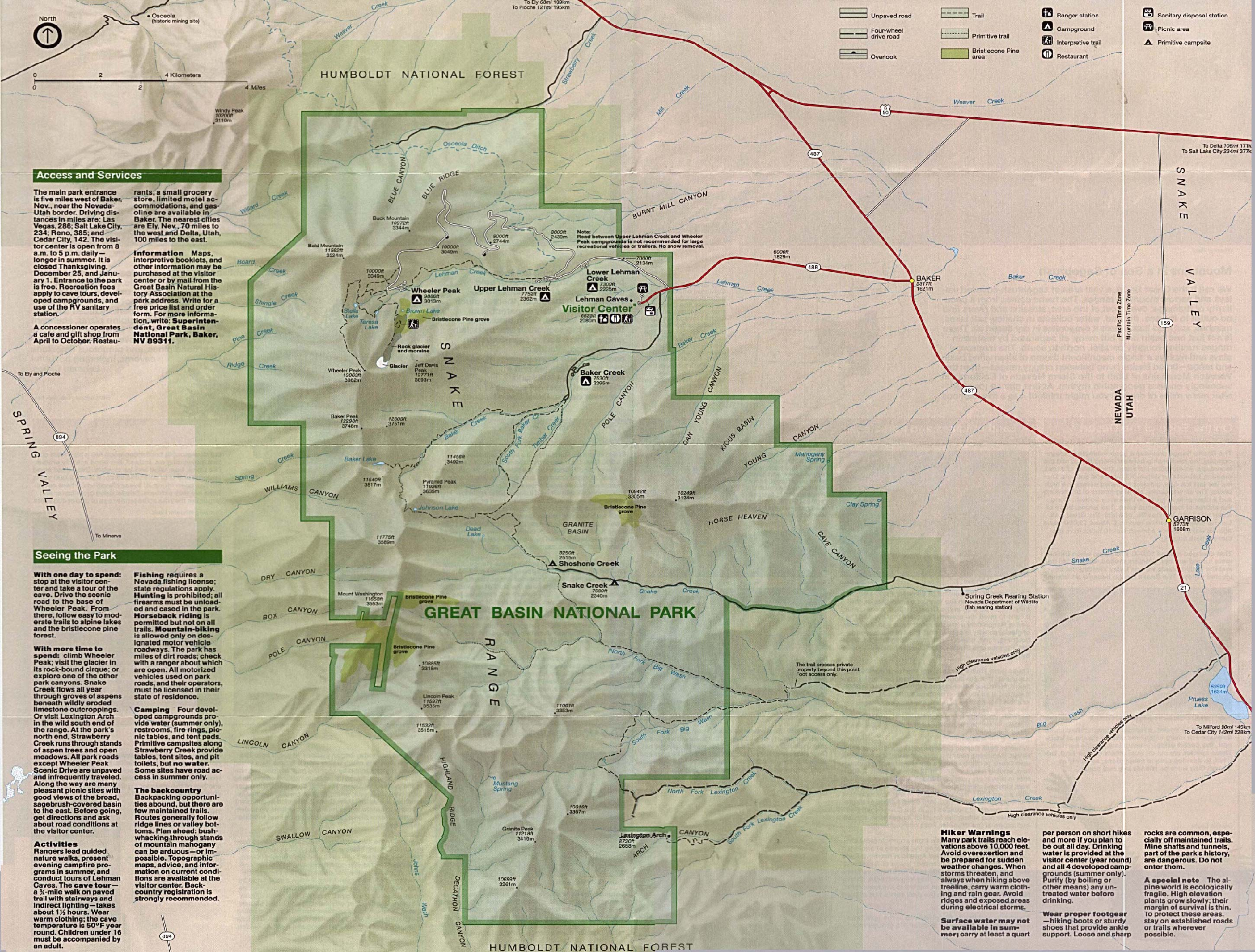 Free Download Nevada National Park Maps on