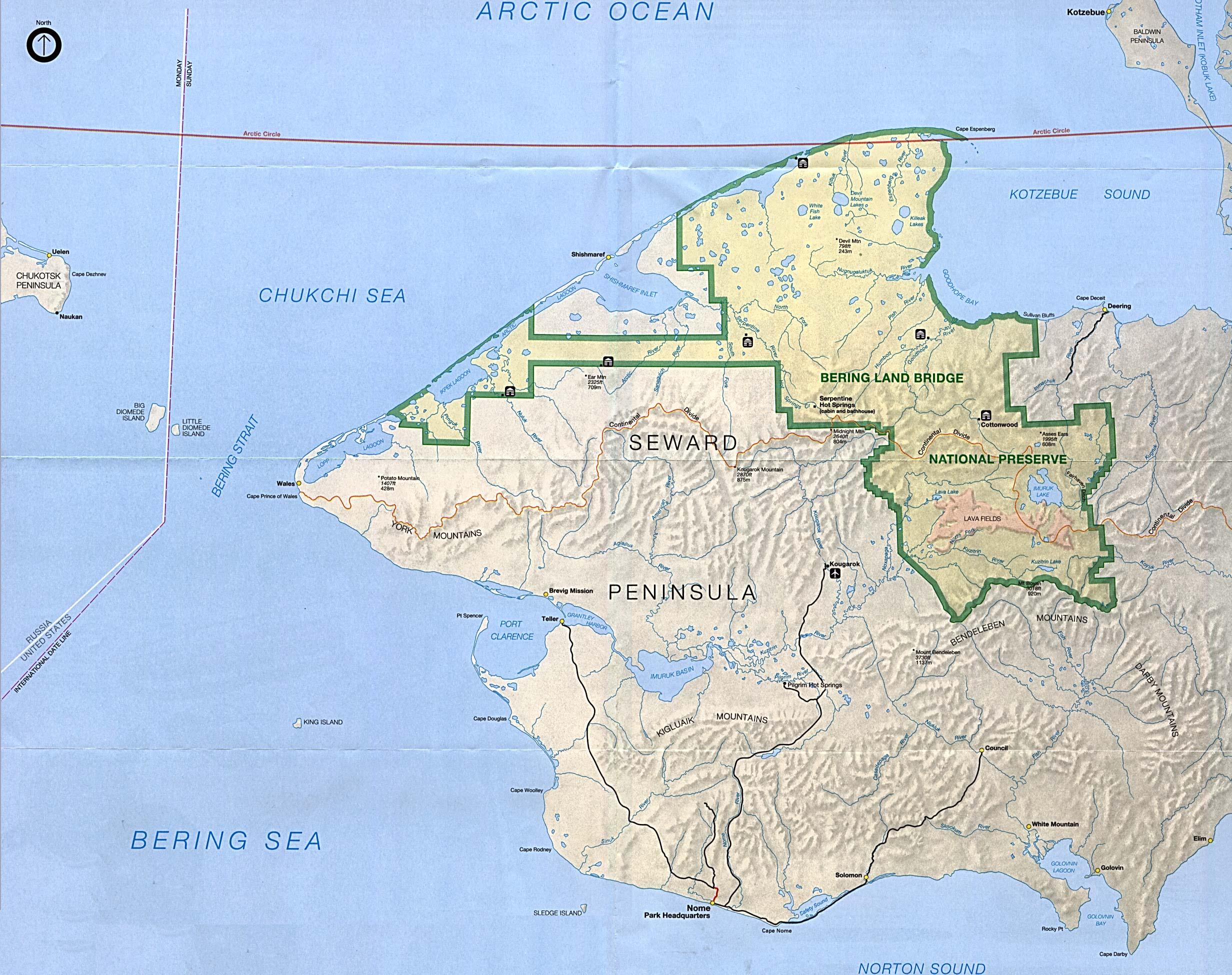 denali state park map pdf