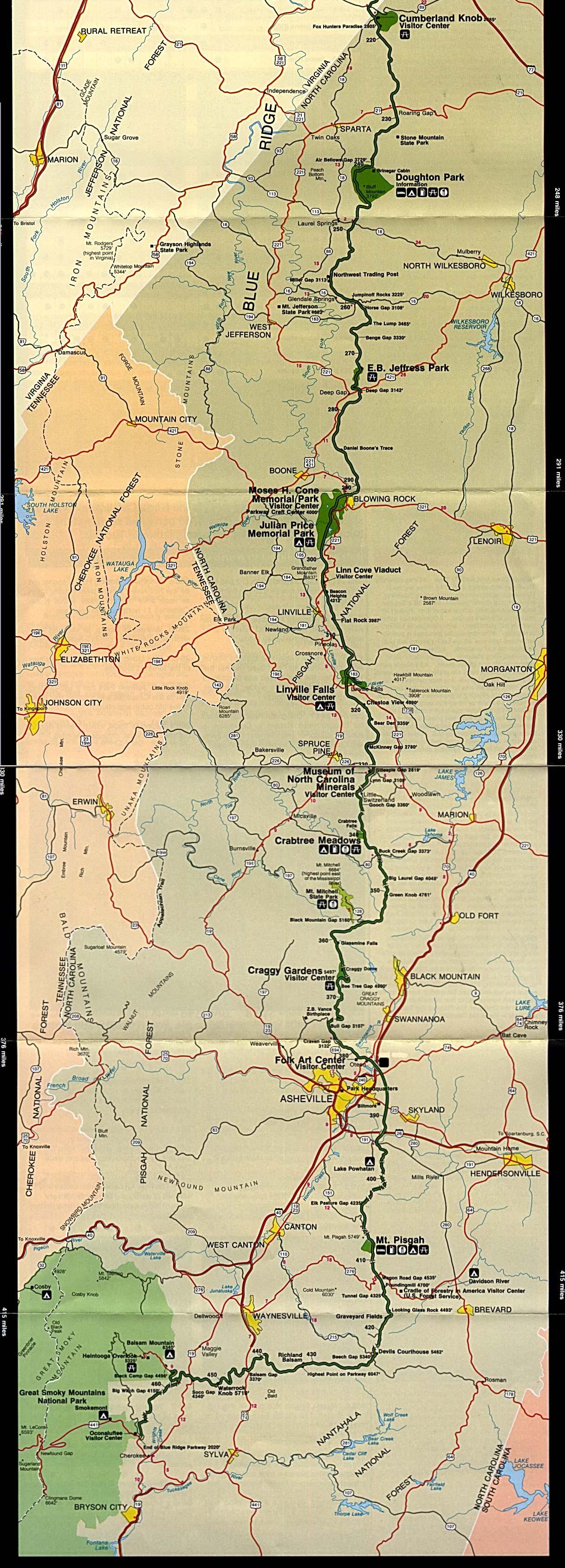 Free Download Virginia National Park Maps - Virginia maps
