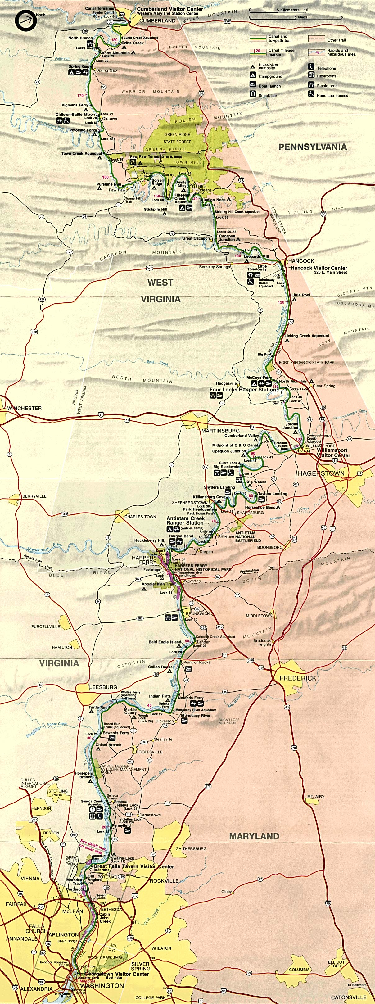 Free Download Maryland National Park Maps - Antietam on us map