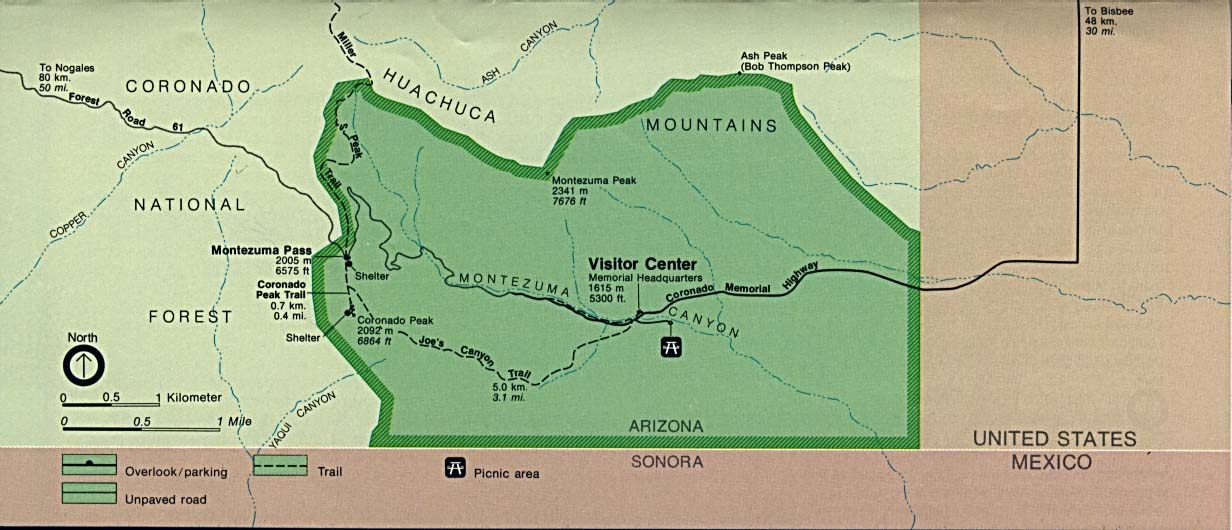 Map Of Arizona With National Parks.Free Download Arizona National Park Maps