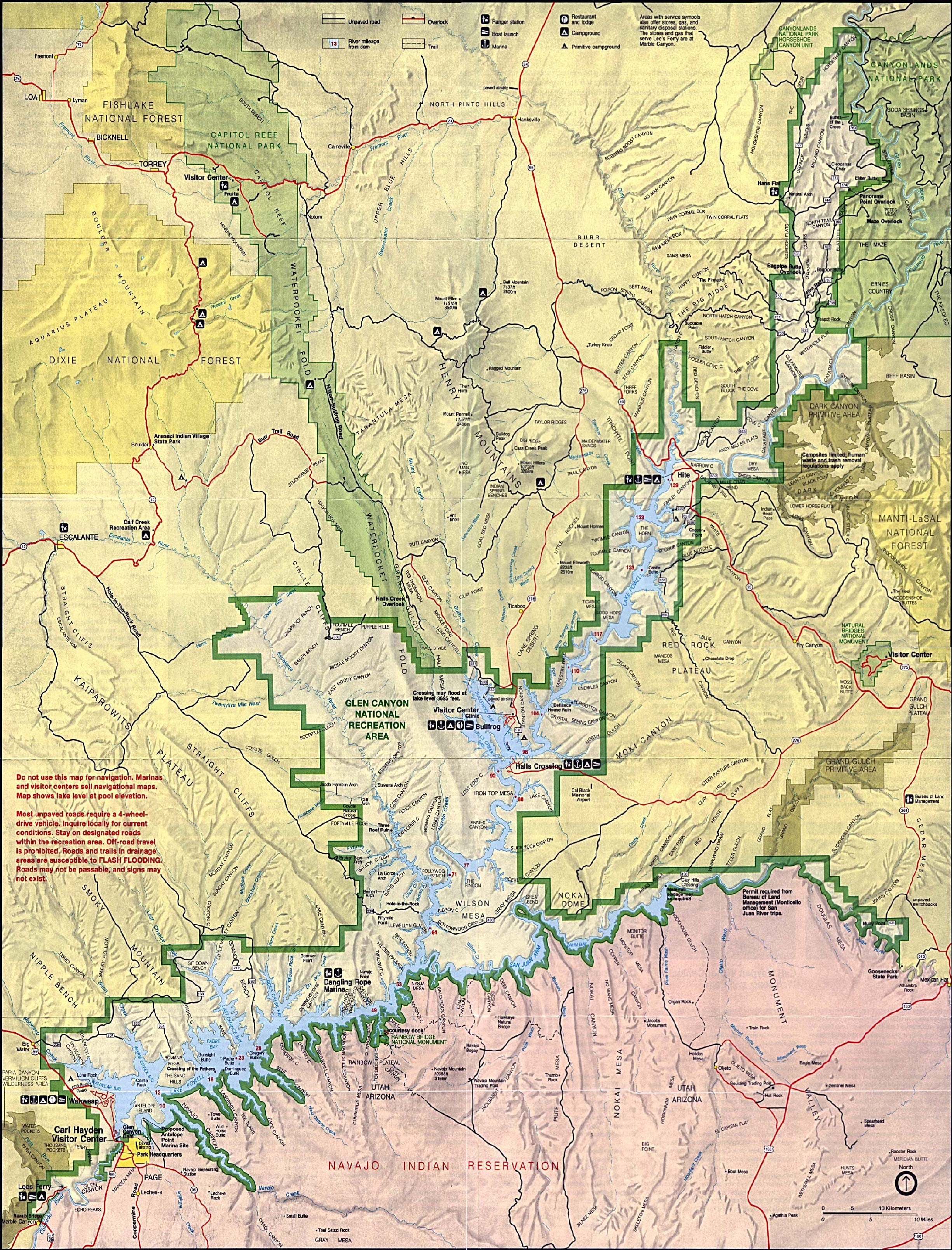 Map Of Arizona And Utah National Parks.Free Download Utah National Park Maps