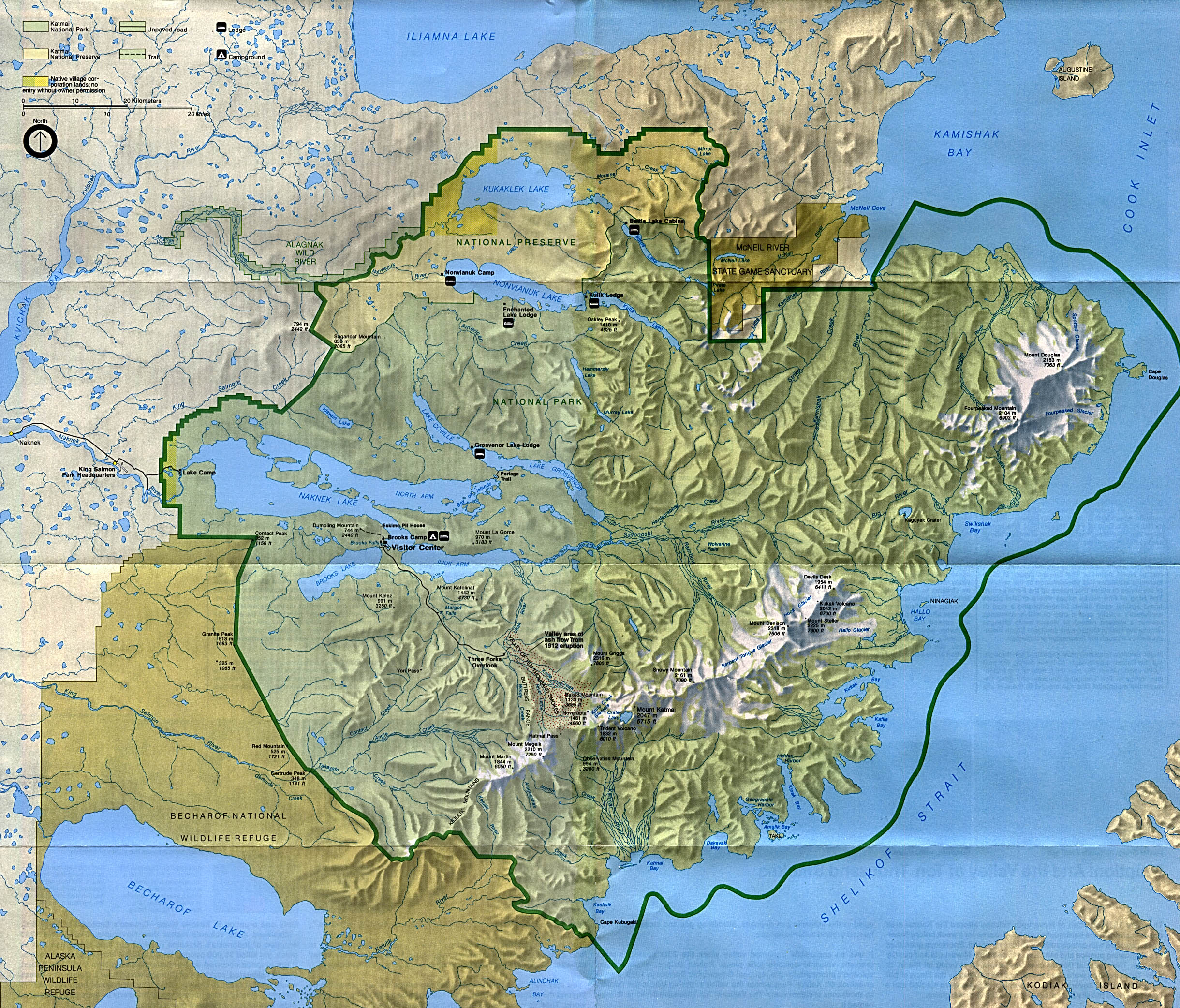 Free Download Alaska National Park Maps - Maps alaska