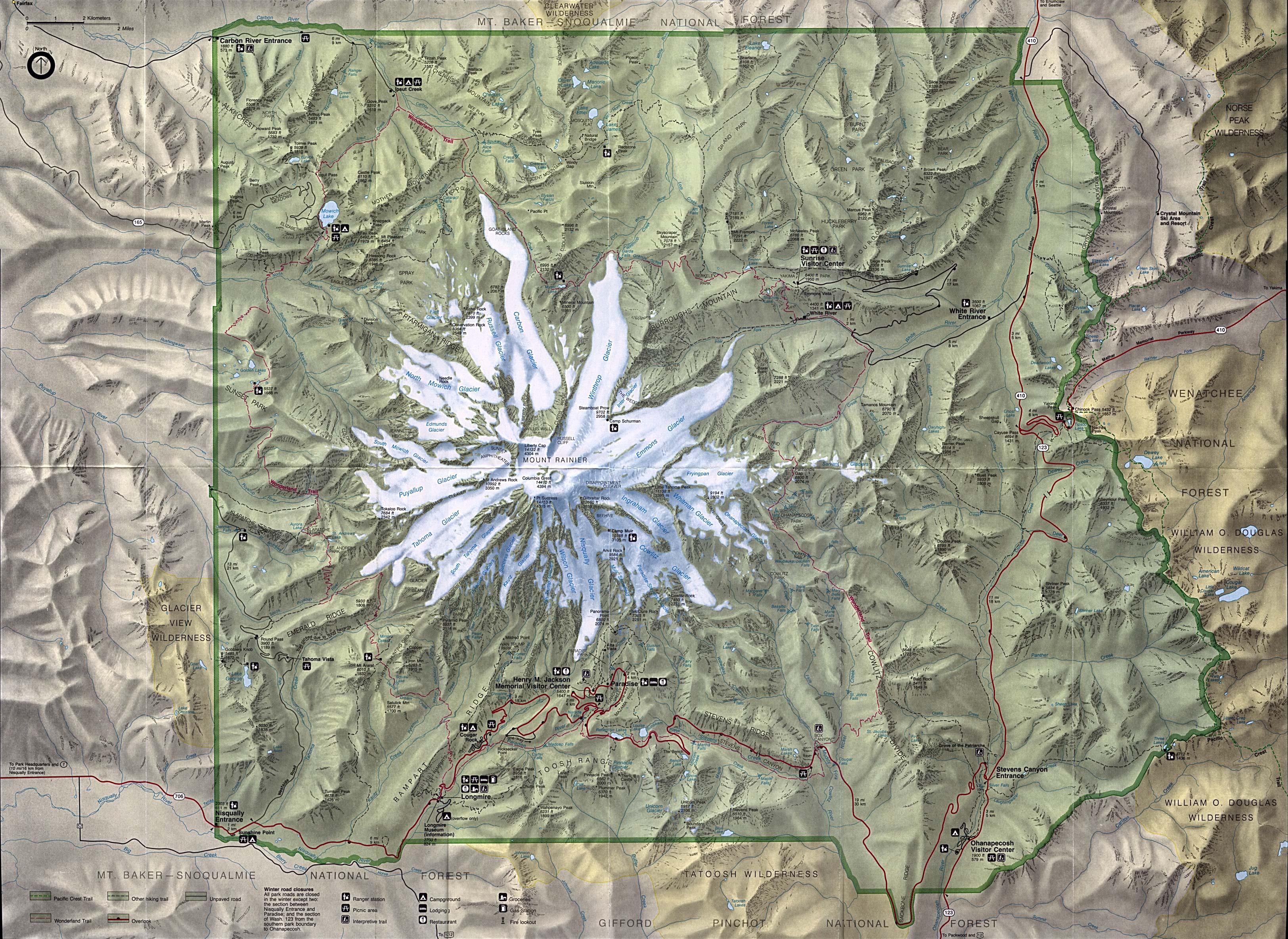 Free Download Washington National Park Maps