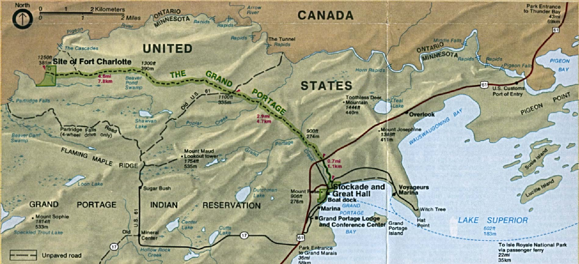 Free Download Minnesota National Park Maps - Us national monuments map