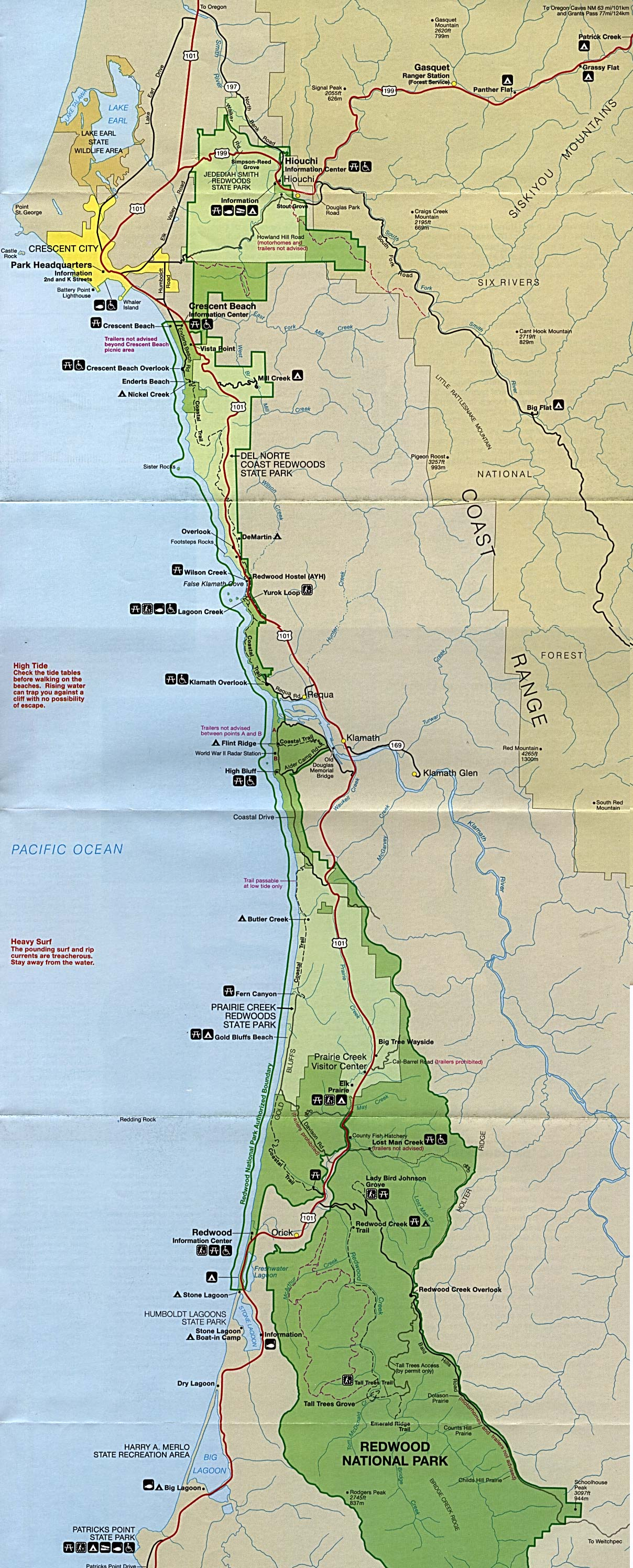 Free Download California National Park Maps on