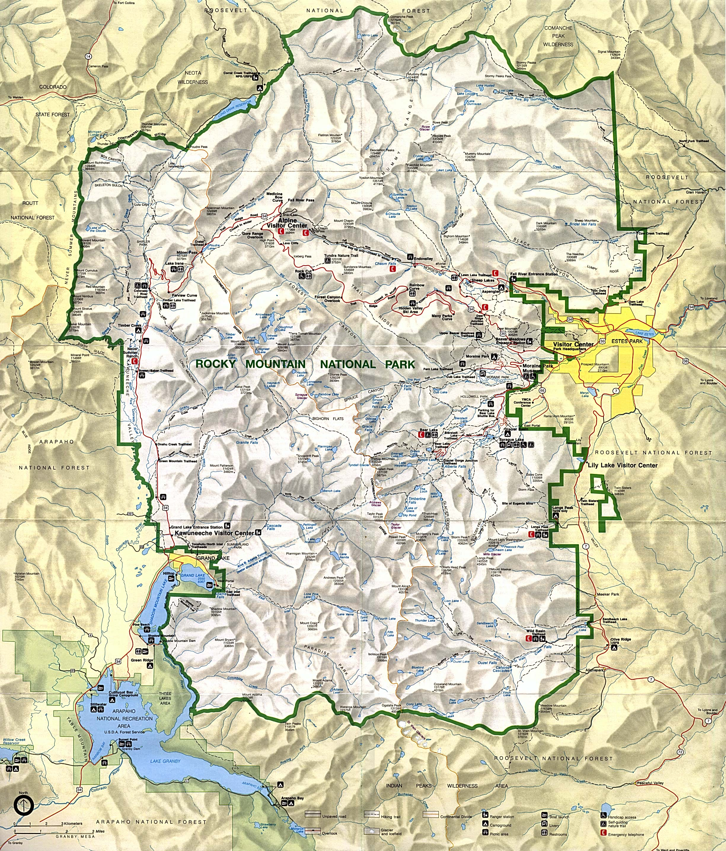 Yellowstone Maps NPMapscom Just Free Maps Period Maps Glacier Bay - Map of all us national parks