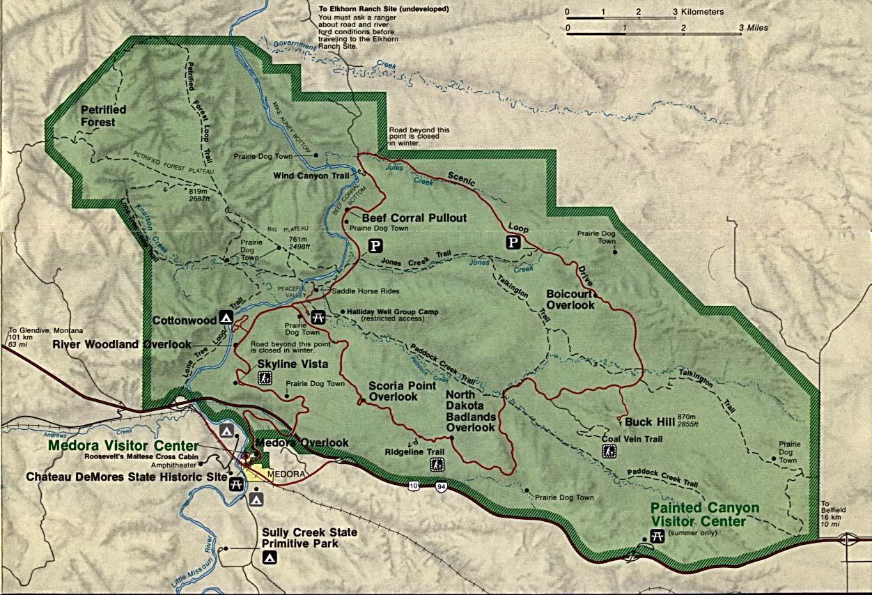 Free Download North Dakota National Park Maps - Map os us national historical parks