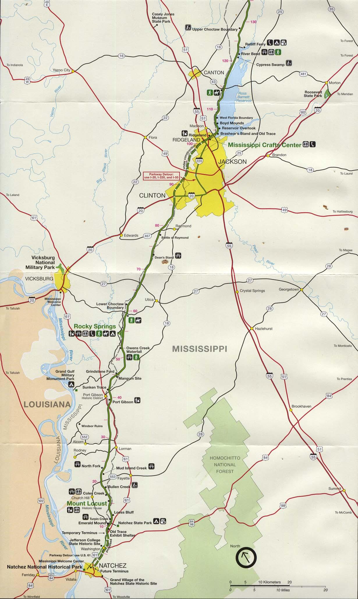 Free Download Alabama National Park Maps