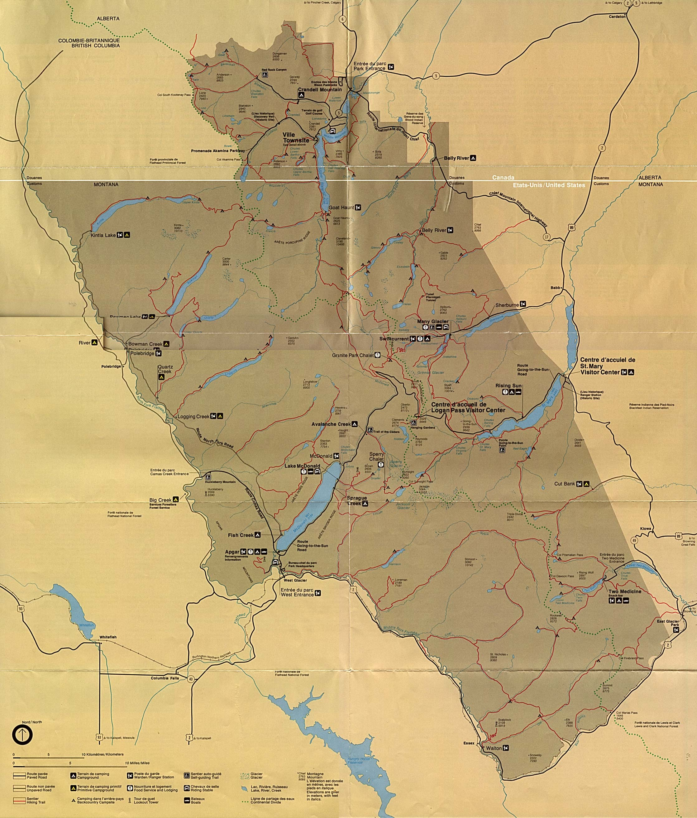Free Download Montana National Park Maps - Map of us parks