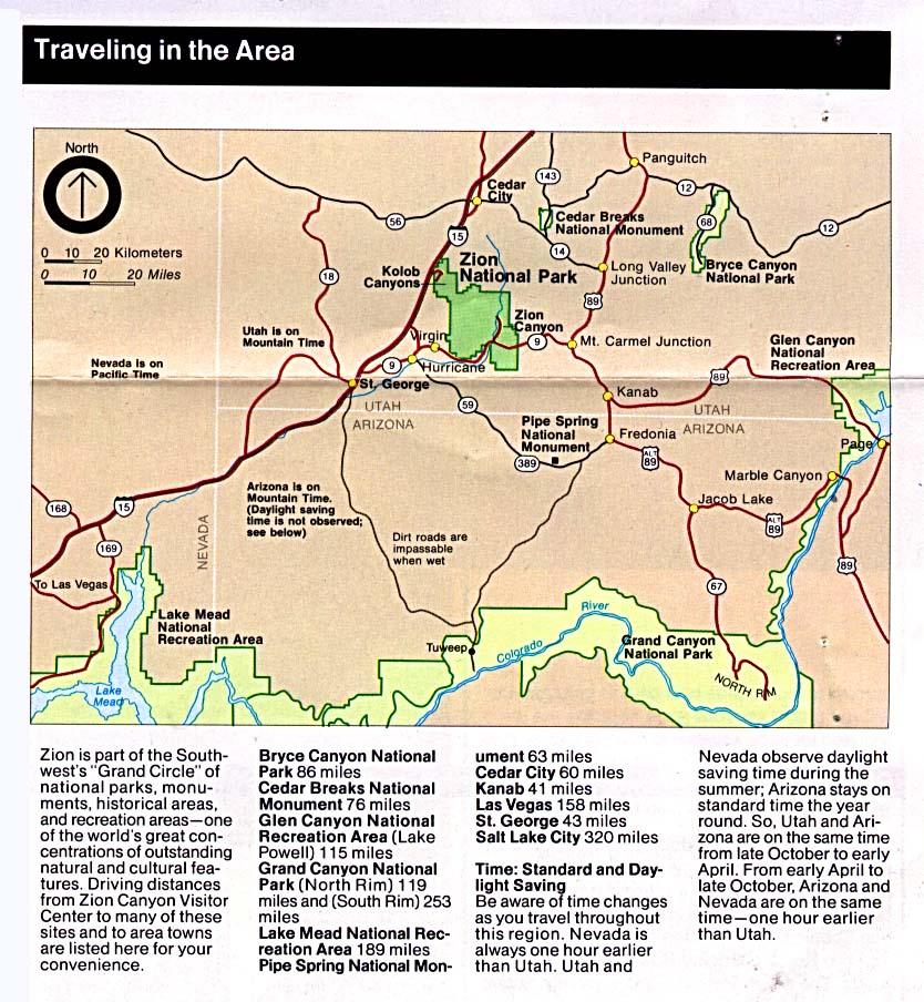 Free Download Utah National Park Maps on