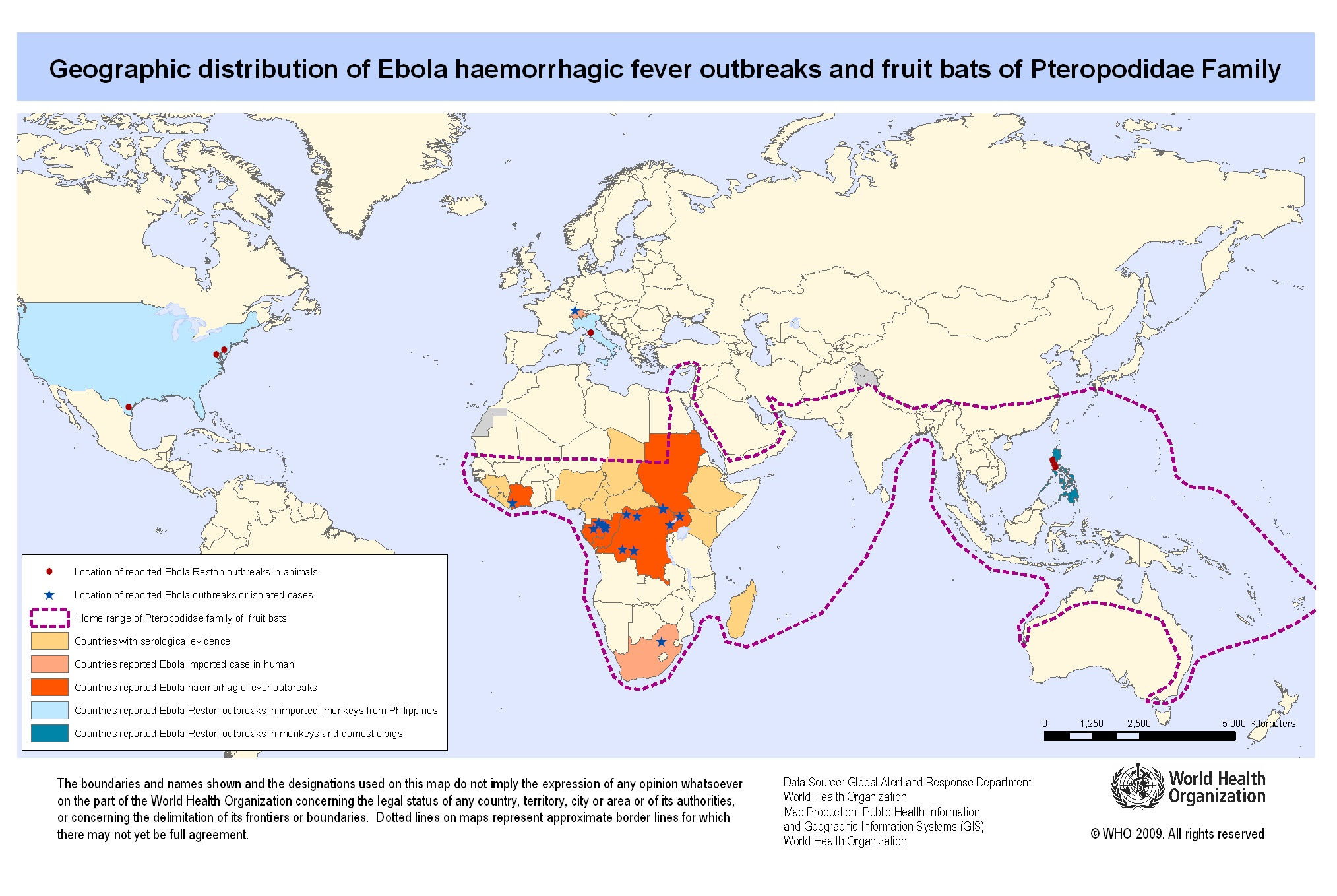 Download free ebola outbreak maps map ebola outbreak risk gumiabroncs Images