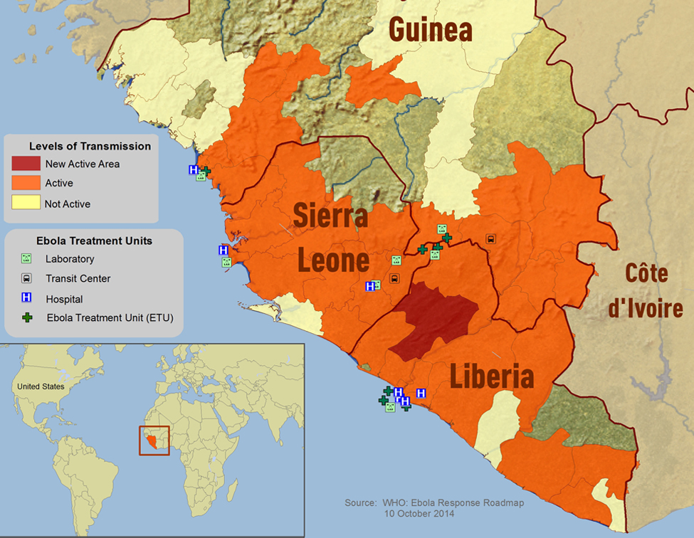 Download free ebola outbreak maps west africa ebola distribution map gumiabroncs Images