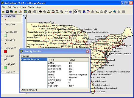 Download Free US Airports Base Layer ArcGIS Shapefile