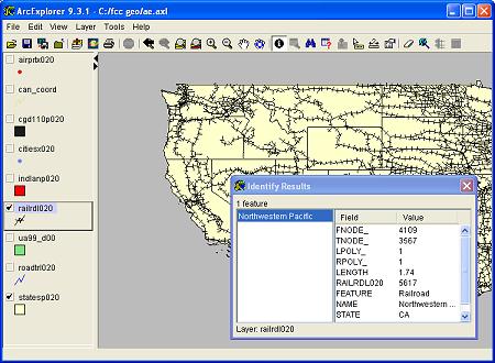 Download Free US Railroads Base Layer ArcGIS Shapefile
