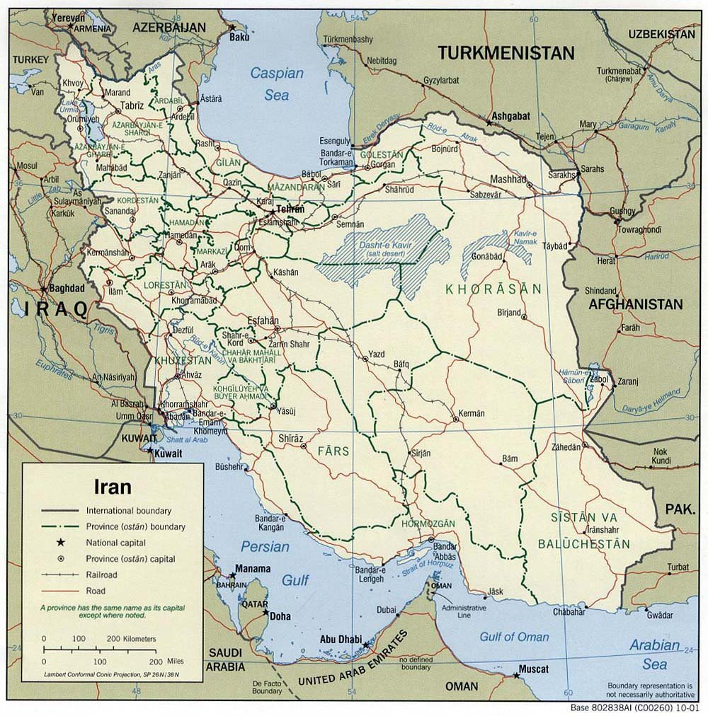 free maps of iran