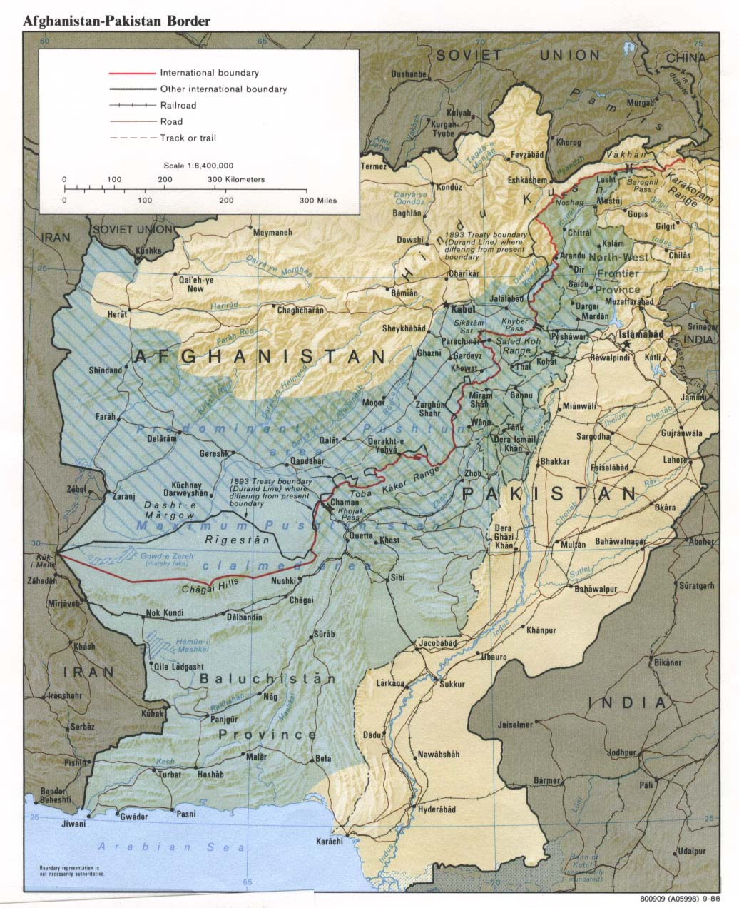 Download free afghanistan maps afghanistan pakistan border gumiabroncs Choice Image