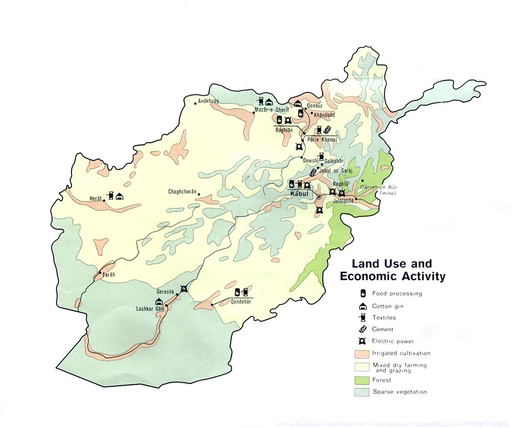 afghanistan land use and economic activity