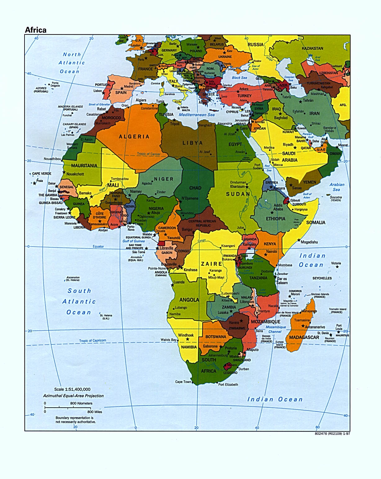 africa map download pdf