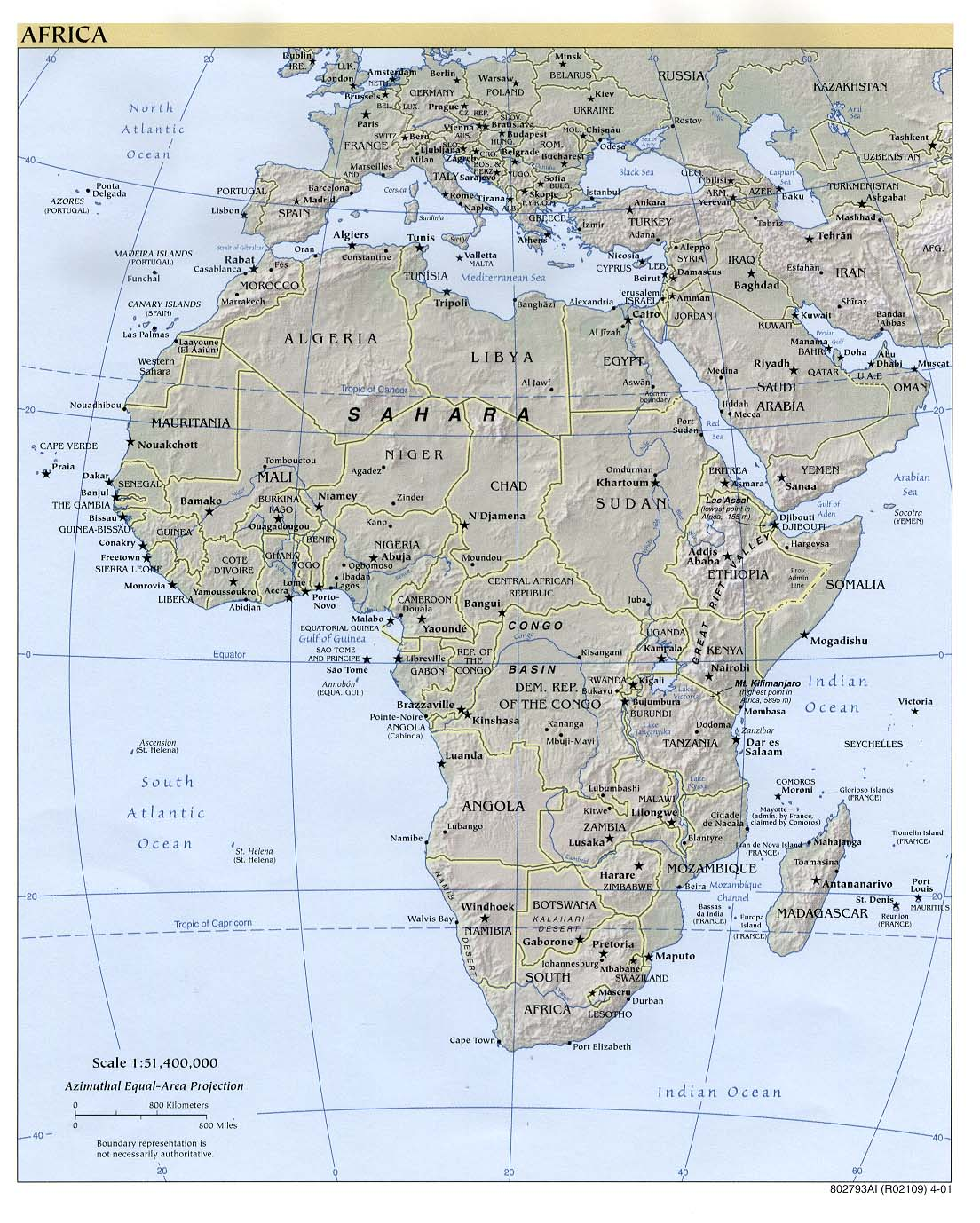 Free Download Of Africa Maps - Africa map pdf