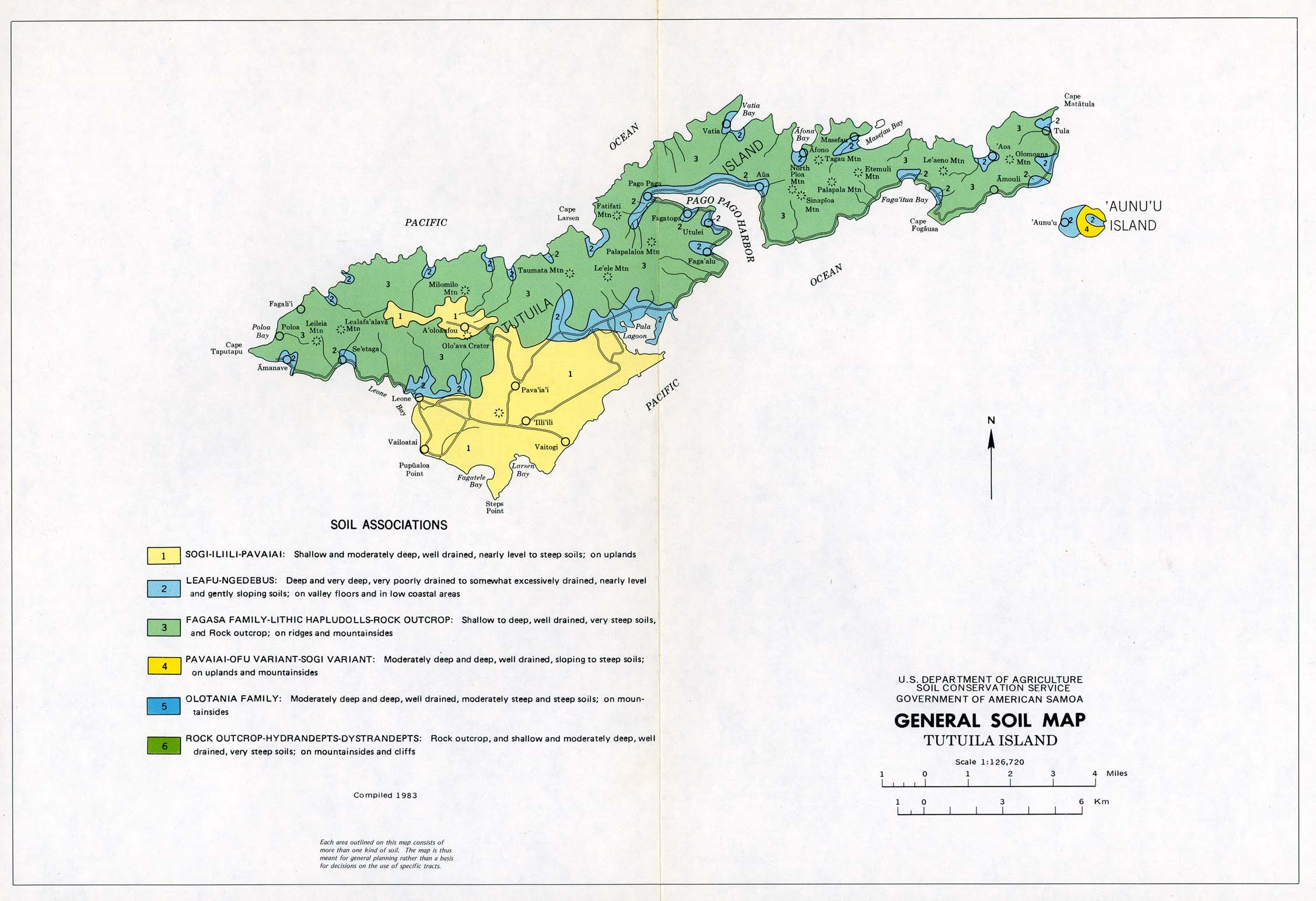 Download free american samoa maps tutuila island general soil map united states department of agriculture soil conservation service compiled 1983 286k gumiabroncs Image collections