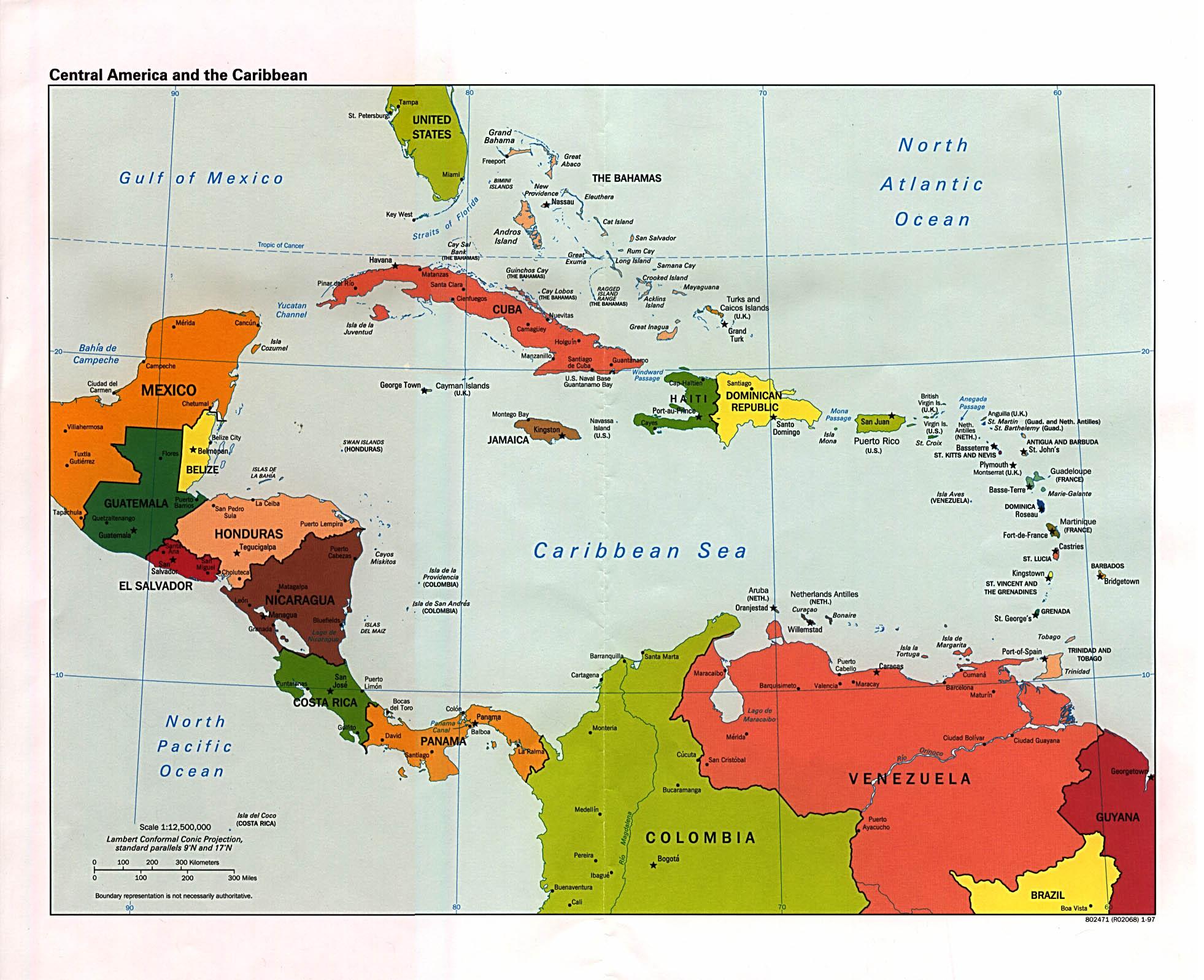 Centro America Cartina Politica.Free Download Americas Maps