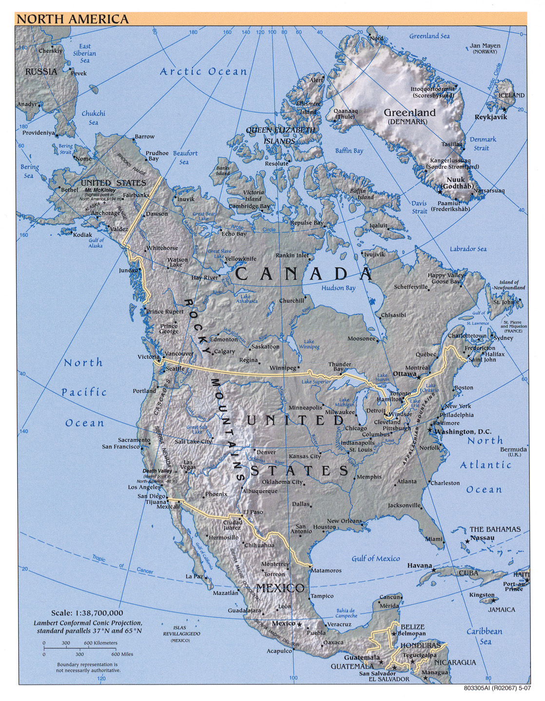 Free North America Map.Free Download Americas Maps