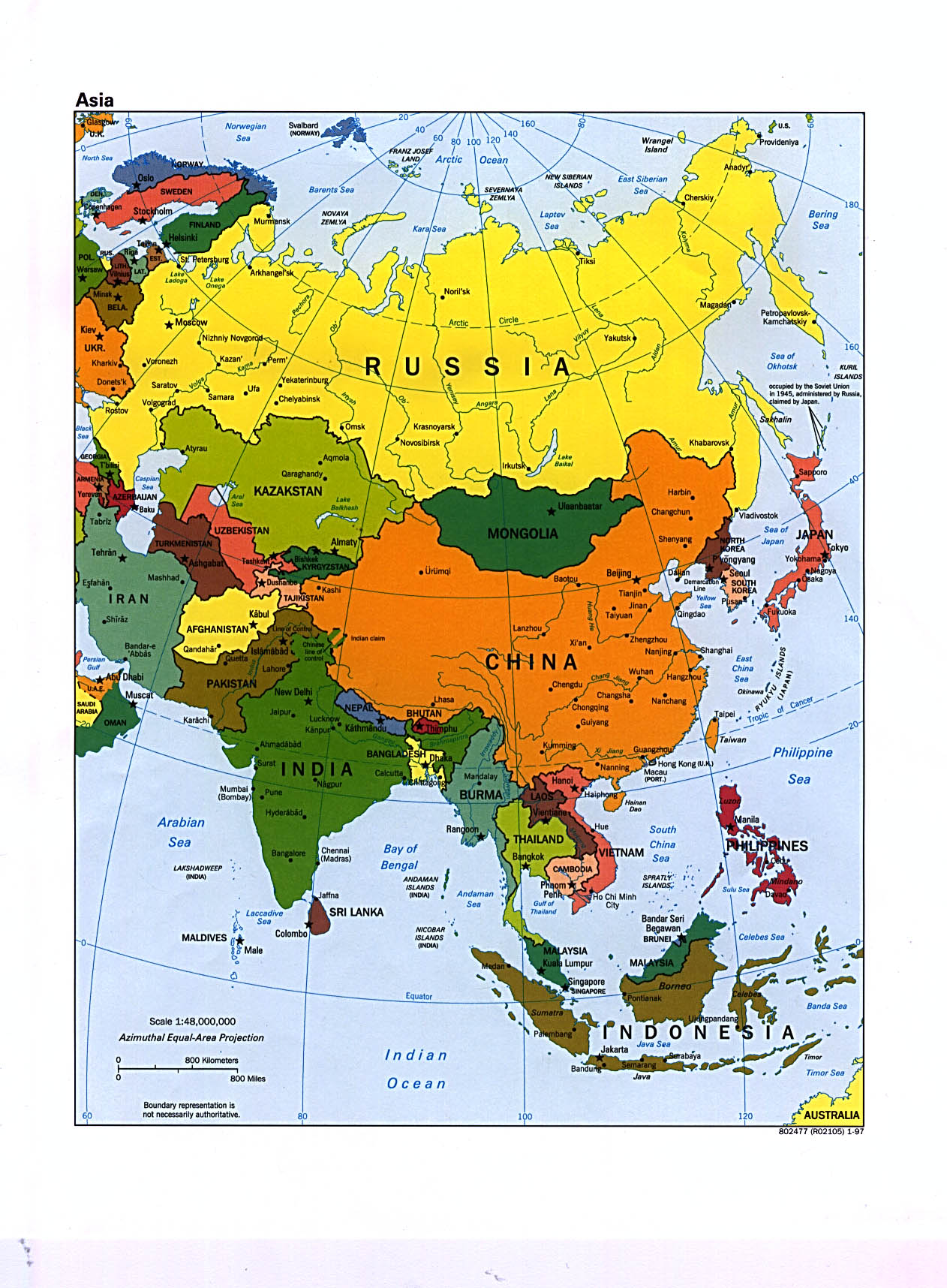 Boundary Map Of Asia.Free Download Asia Maps