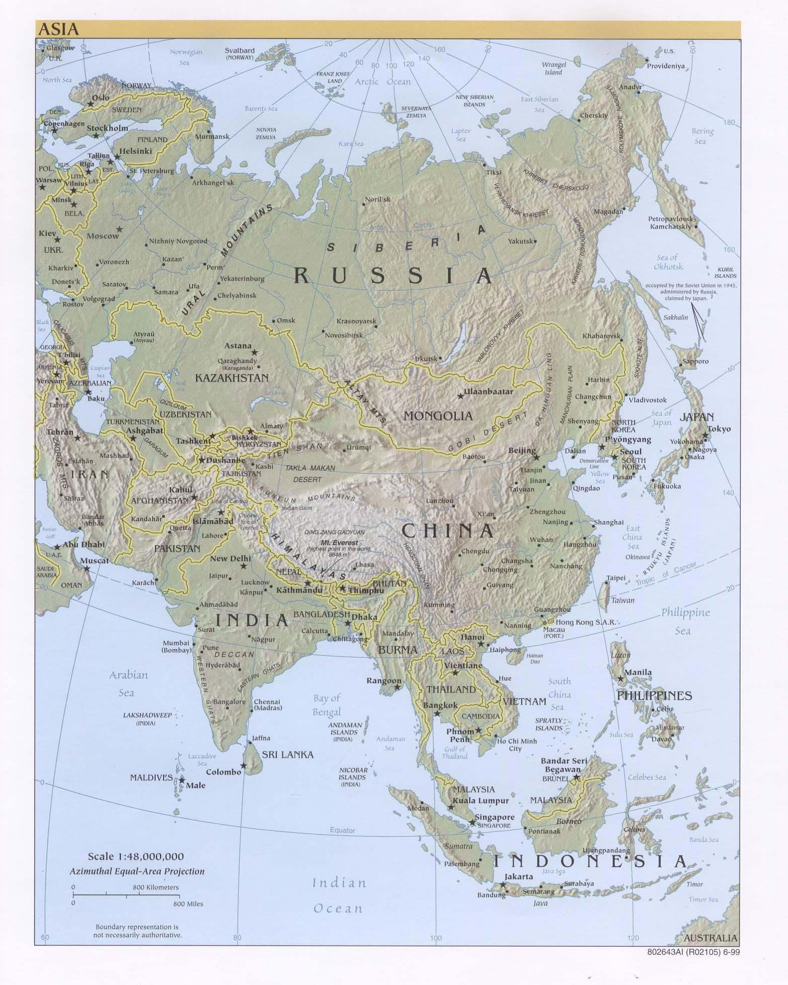 Cartina Asia Fisica.Free Download Asia Maps