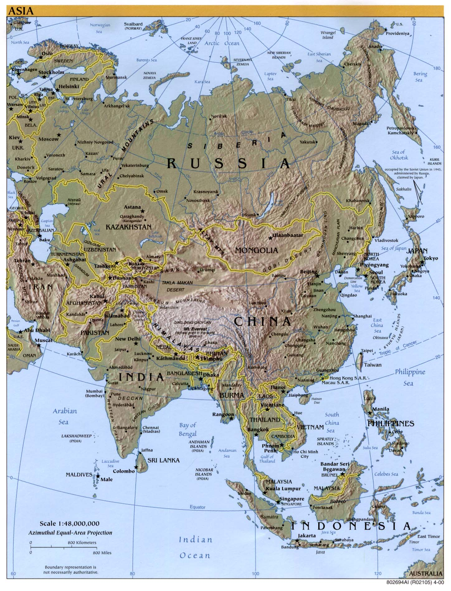 Map Of Asia By Country.Free Download Asia Maps