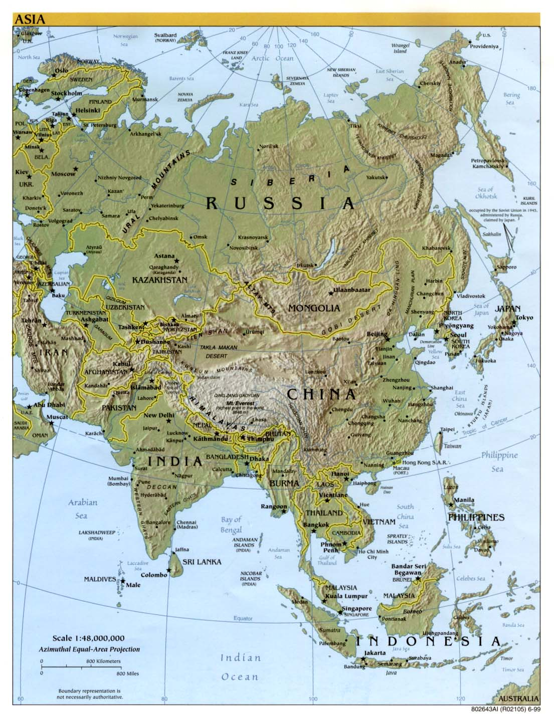 Free Download Asia Maps – Geographical Map Asia
