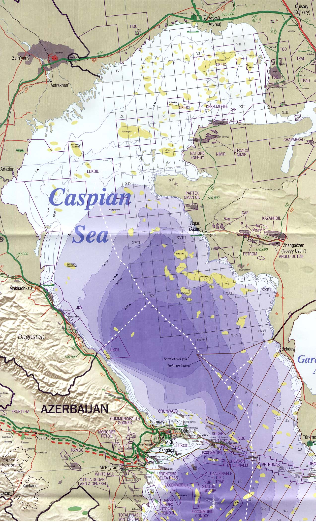 caspian sea region north