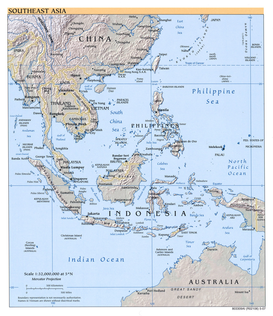 Asia Map With Country Names And Capitals Pdf