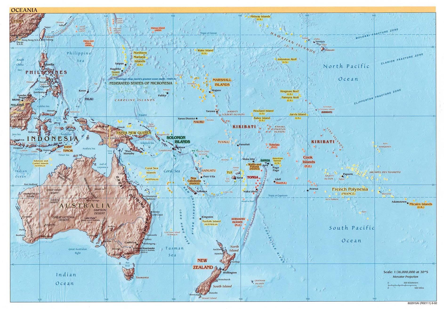 Free Download Australia Oceania Maps