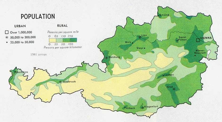 Free Download Austria Maps - Austria climate map