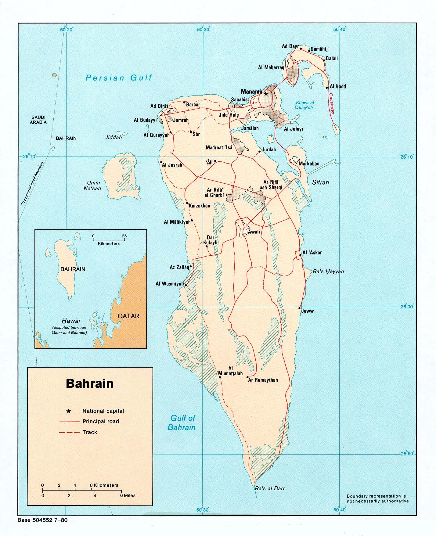 Free Bahrain Maps - Bahrain interactive map