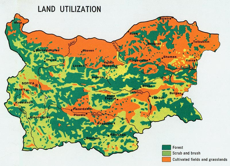 Free Bulgaria Maps - Bulgaria map