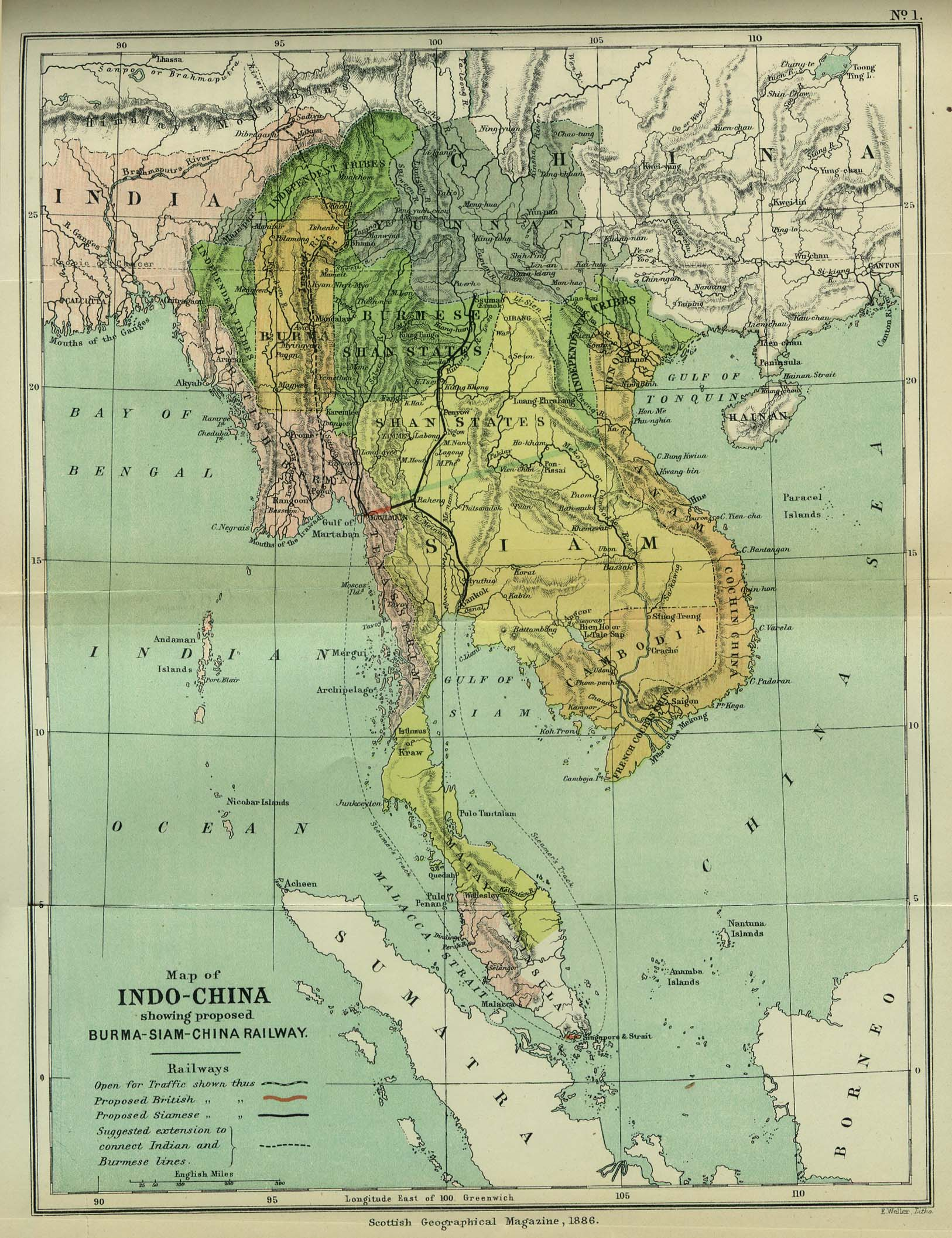 Free burma myanmar maps indo china 1886 gumiabroncs Images