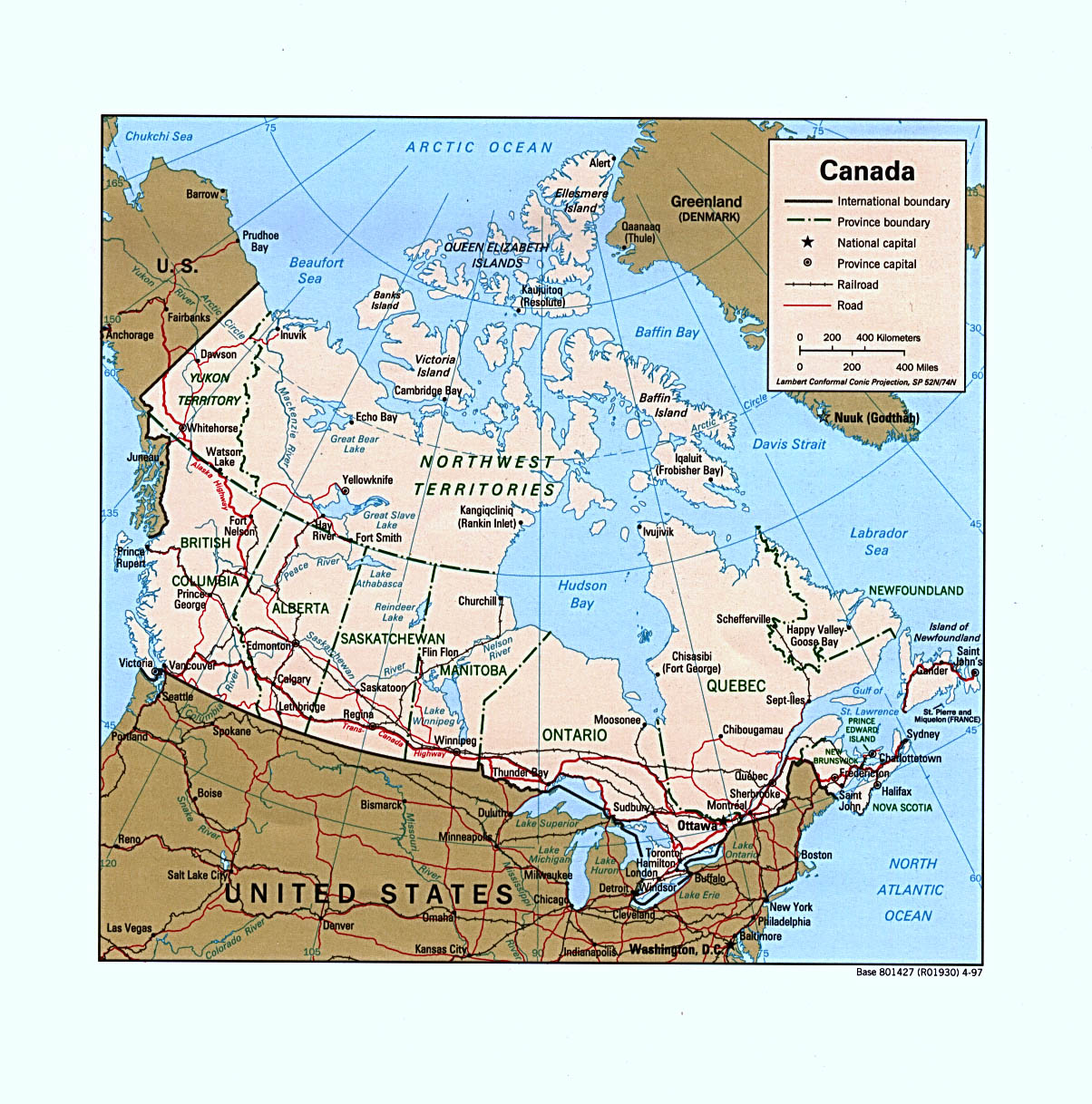 Free Map Of Canada.Free Canada Maps