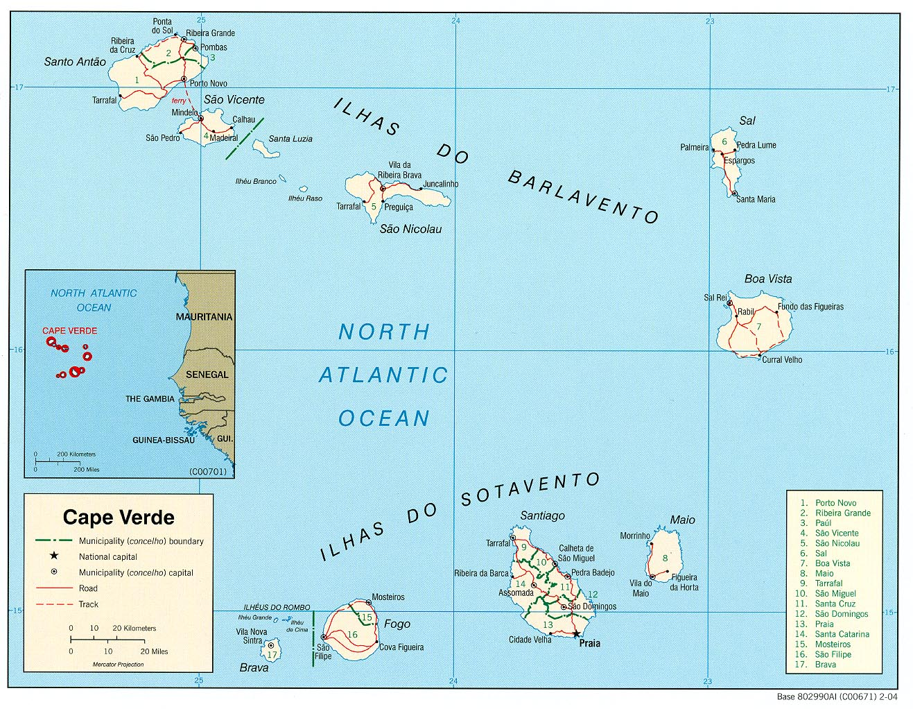 mapa cabo verde Free Cape Verde Maps mapa cabo verde