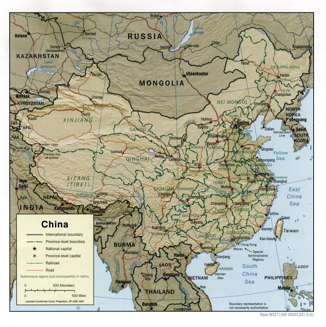 Free china maps china shaded gumiabroncs Choice Image