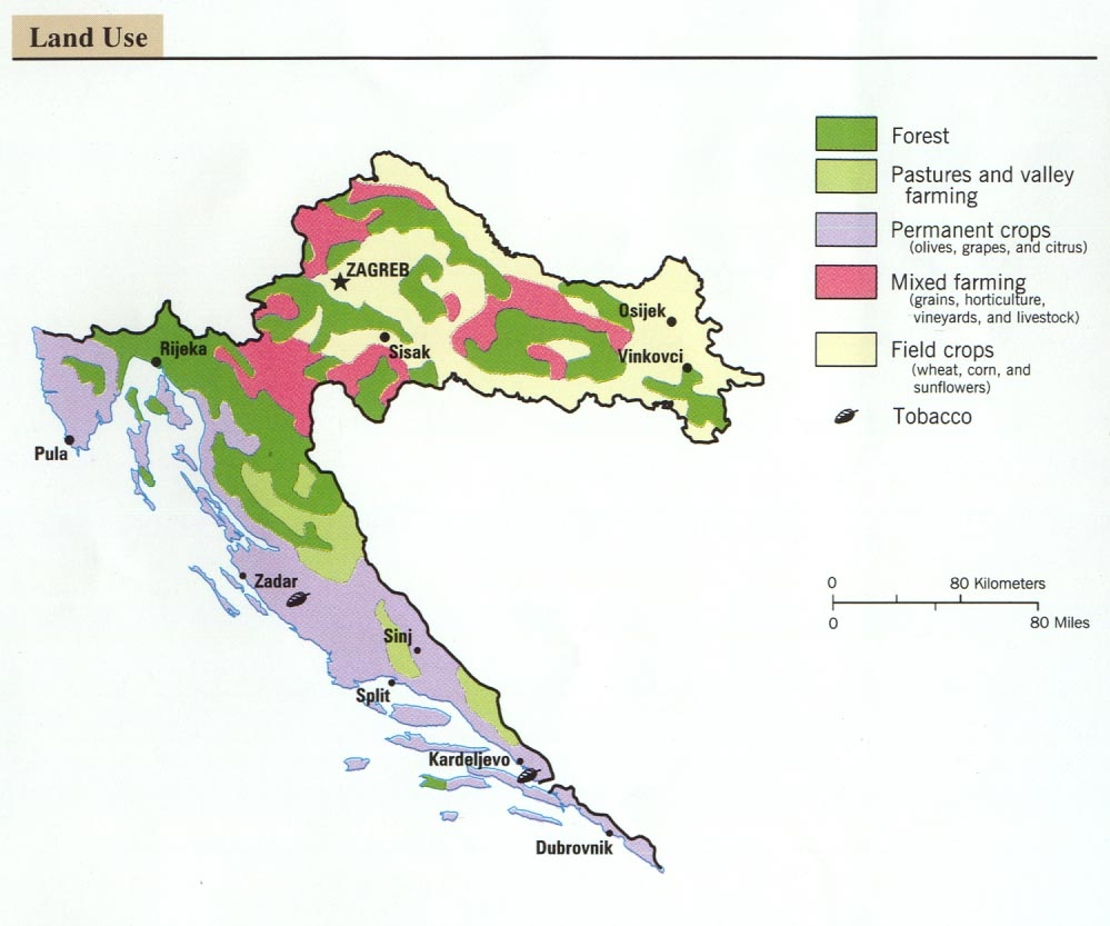 Free croatia maps croatia land use gumiabroncs Gallery