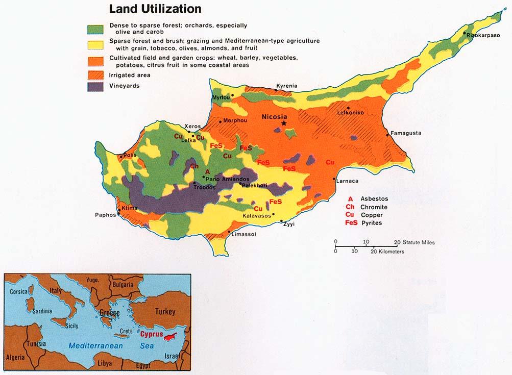 Free cyprus maps cyprus land utilization gumiabroncs Images