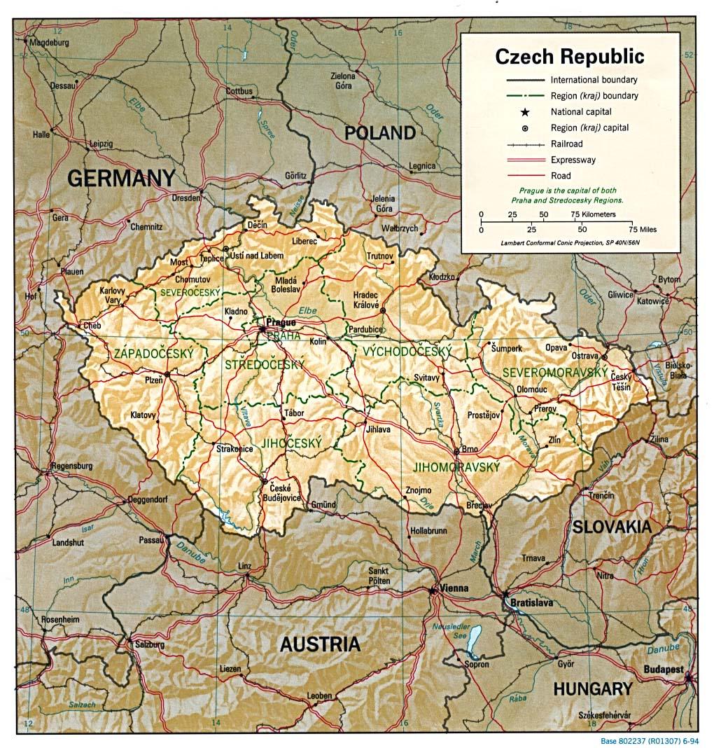 Free Czech Republic Maps