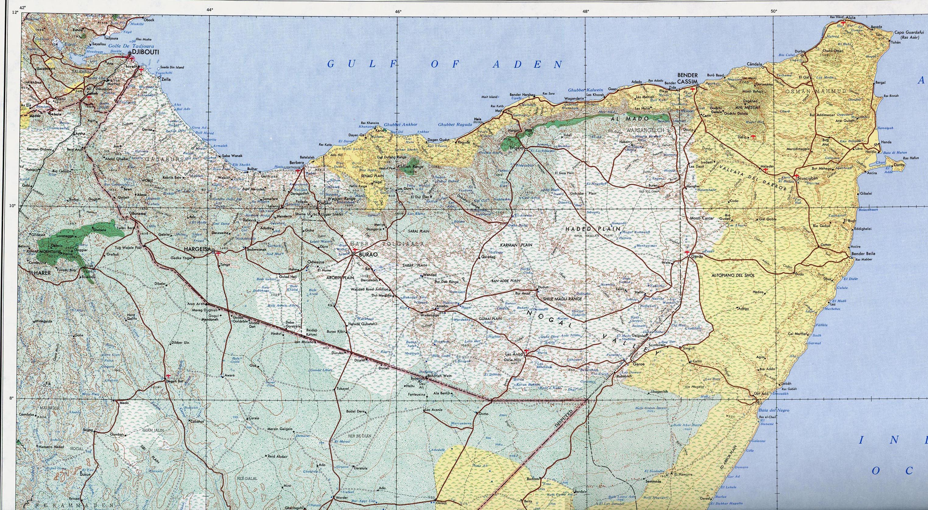 Free Djibouti Maps - Djibouti map