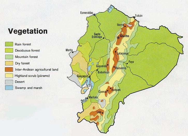 Free Ecuador Maps