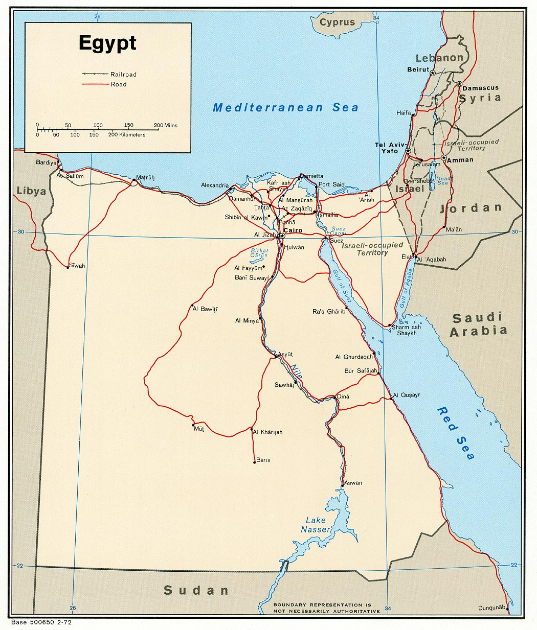 Free Egypt Maps - Map of egypt online