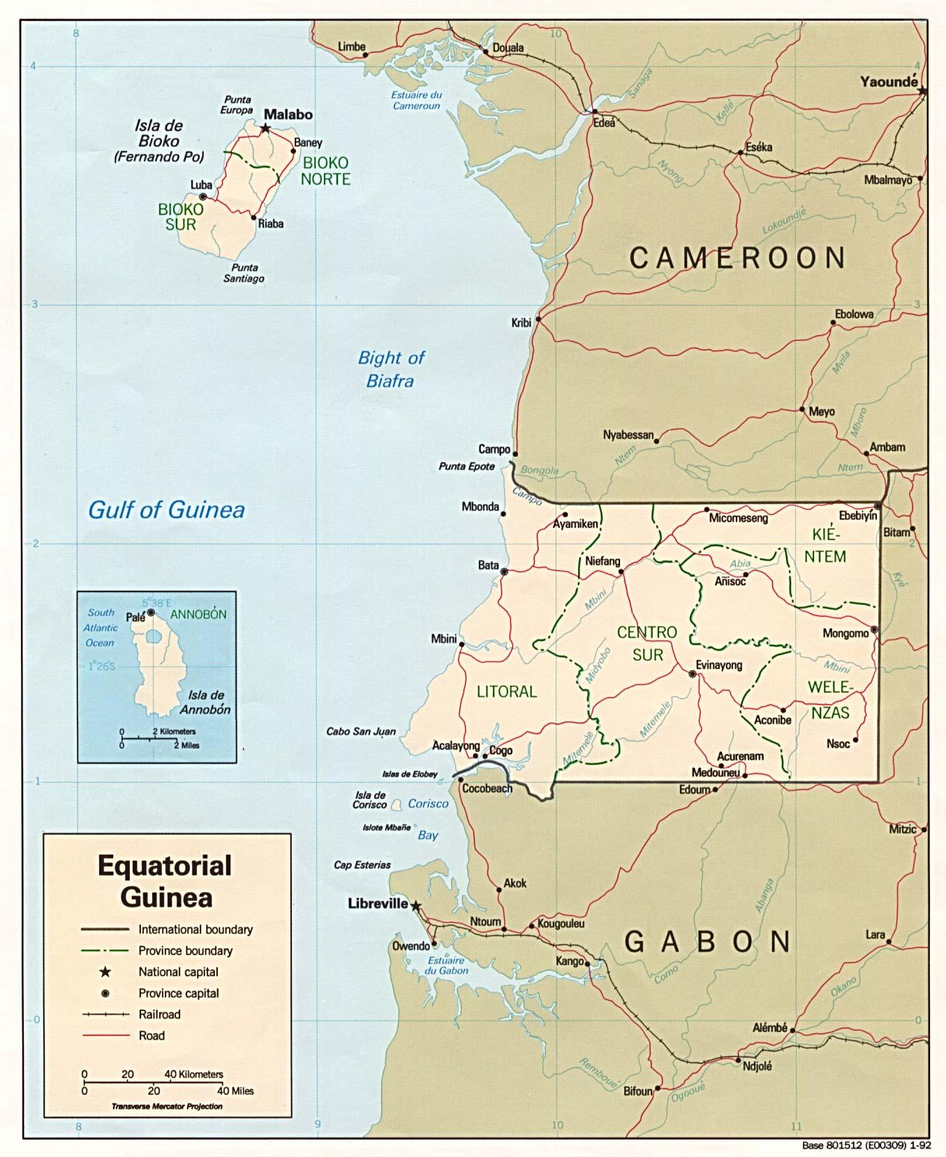 Free Equatorial Guinea Maps